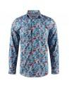Camisa de hombre azul estampado de flores | ABH Collection JÁVEA