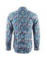 Chemise homme bleu imprimé fleurs | ABH Collection JÁVEA