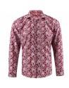 Flower print burgundy men's shirt | ABH Collection JÁVEA