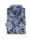 Chemise homme bleu imprimé buisson | ABH Collection JÁVEA
