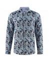 Bush print blue men's shirt | ABH Collection JÁVEA
