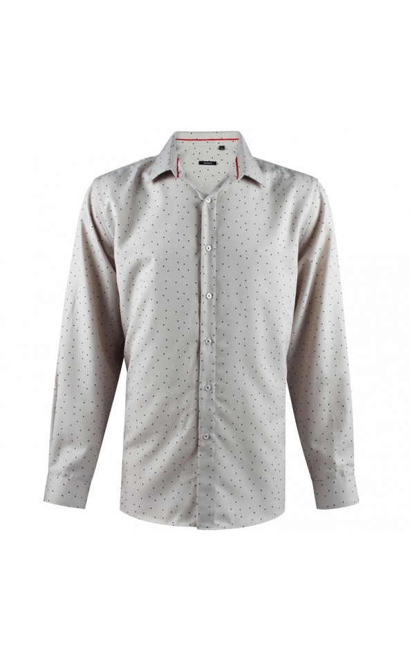 Dot print beige men's shirt | ABH Collection JÁVEA