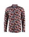 Camisa de hombre negro estampado floral | ABH Collection JÁVEA