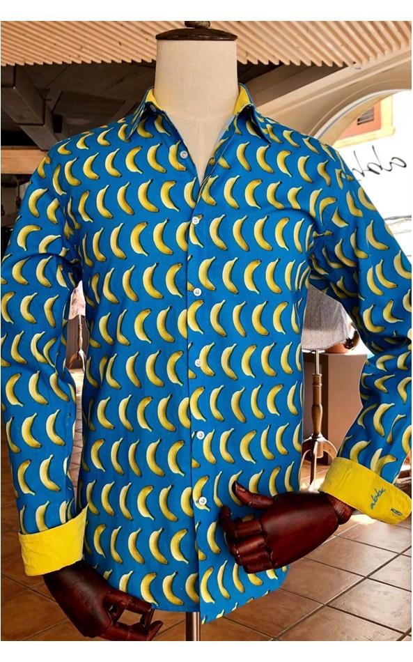 Camisa de hombre con estampado de plátano