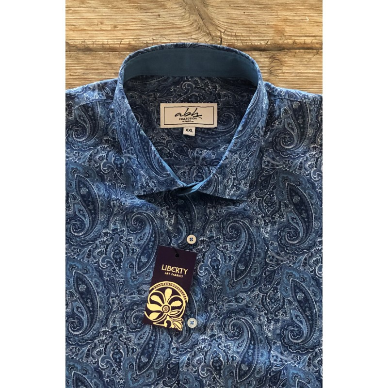 Camisa de hombre LIBERTY estampado cachemir | ABH Collection JÁVEA