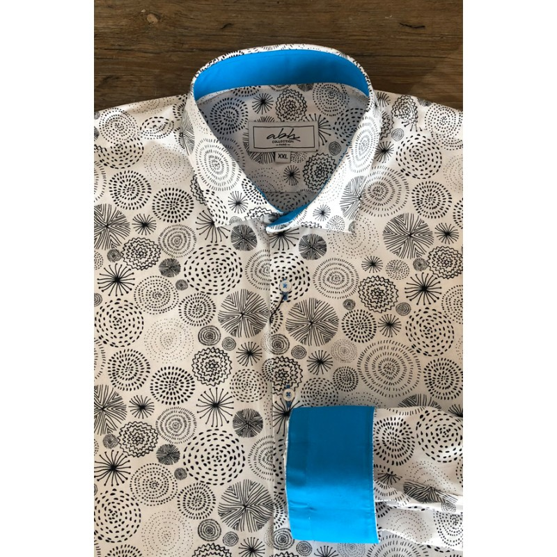 Fireworks printed men's shirt | ABH Collection JÁVEA