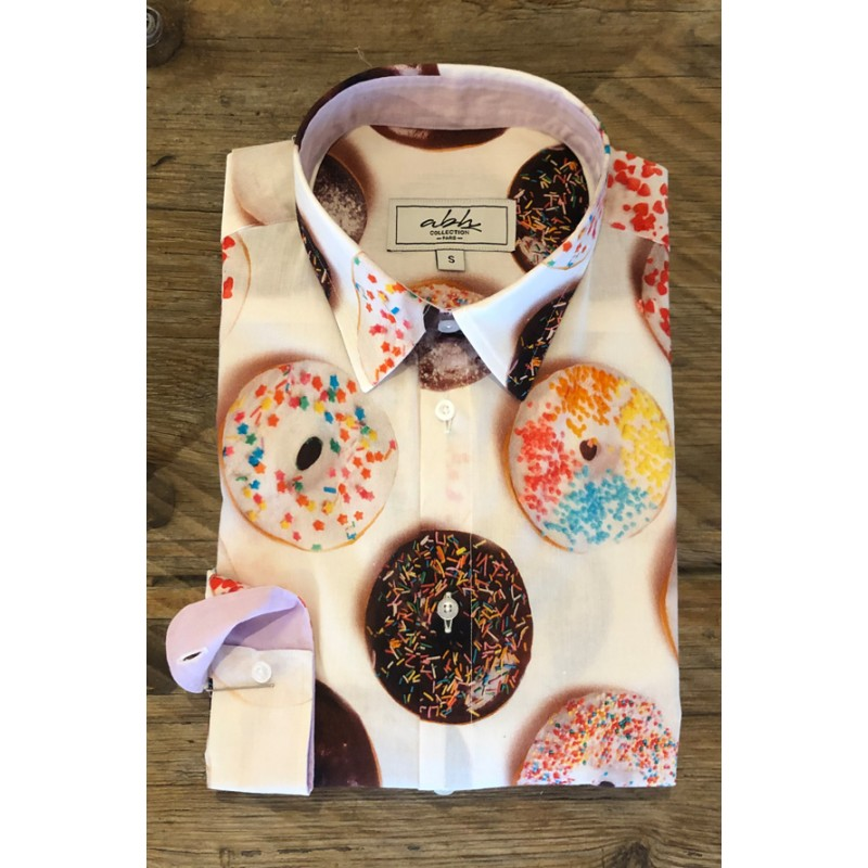 Men's Donuts printed shirt | ABH Collection JÁVEA