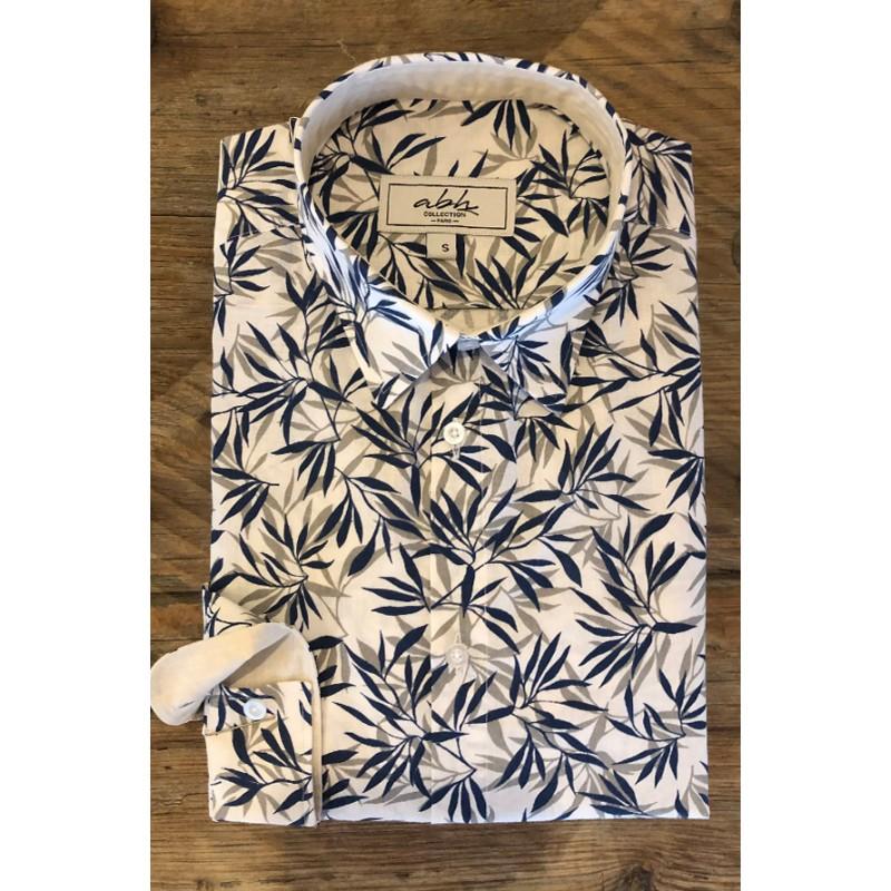Camisa de hombre estampado Bambú | ABH Collection JÁVEA