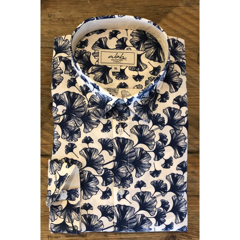 Men's Ginkgo biloba printed shirt | ABH Collection JÁVEA