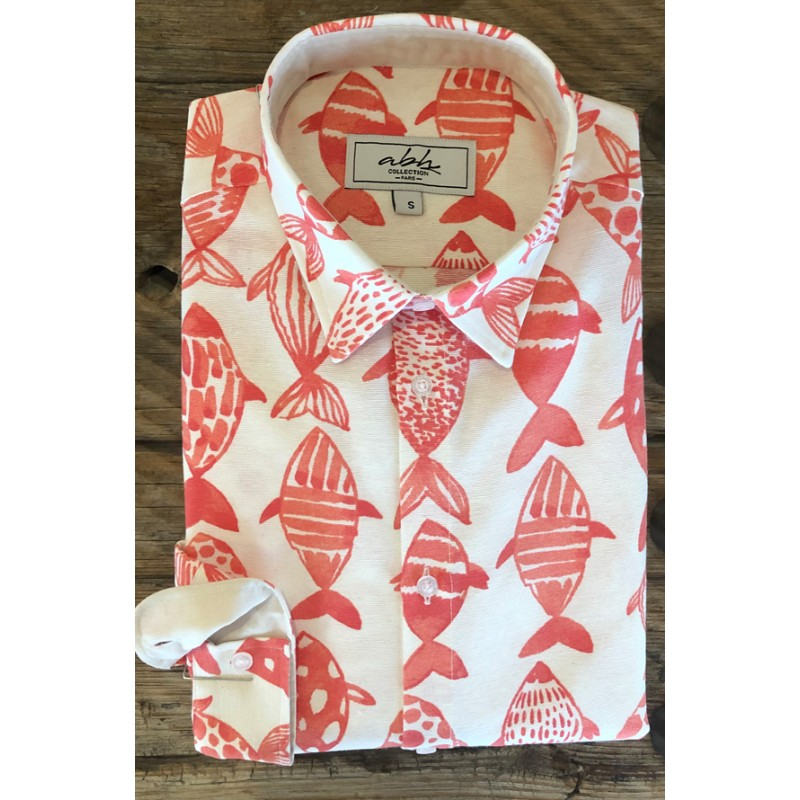 Men's Koi Fish printed shirt  ABH Collection JÁVEA