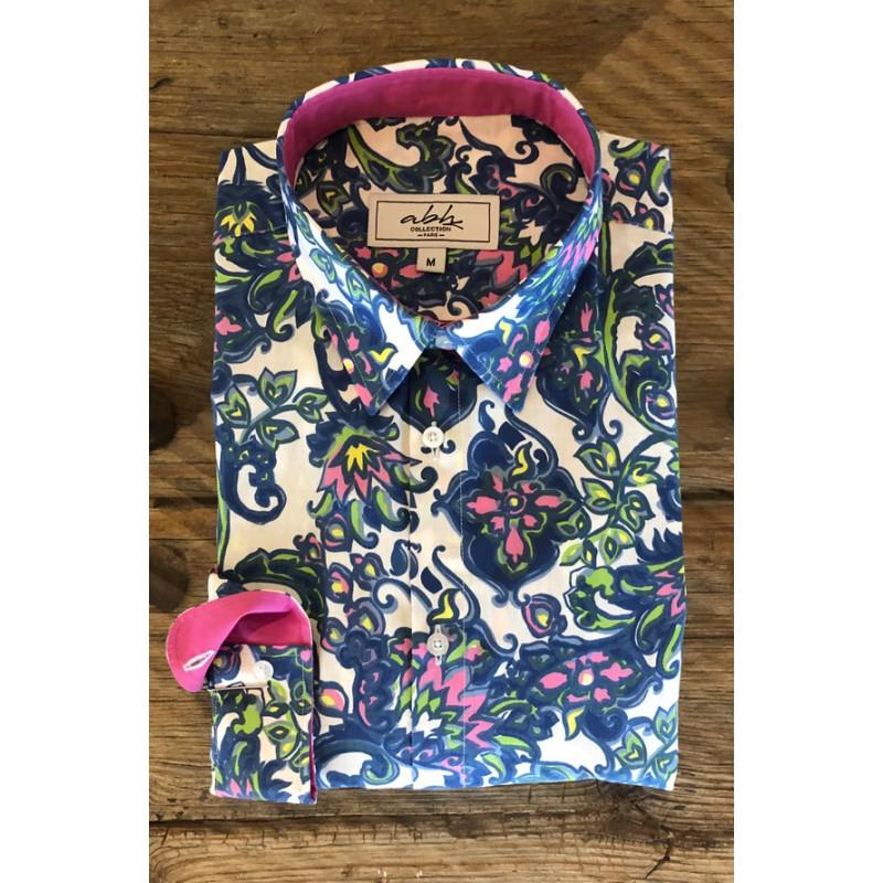 Men's Neon Floral Print Shirt | ABH Collection JÁVEA