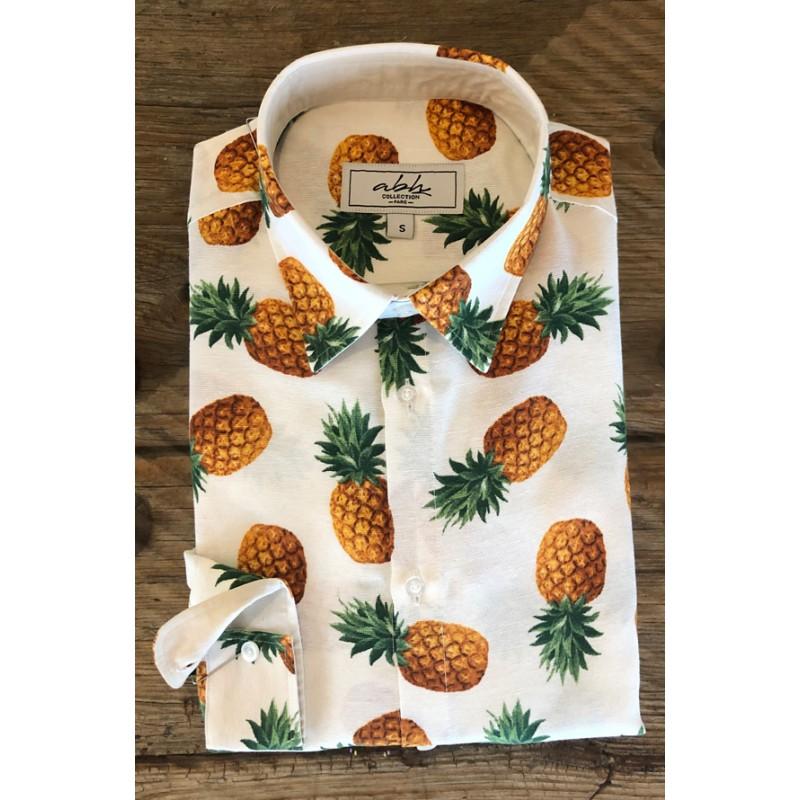 Men's pineapple printed shirt | ABH Collection JÁVEA