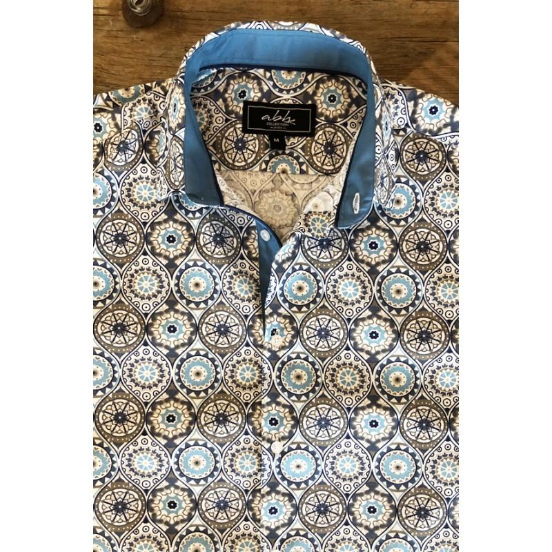 Boho chic printed Men's shirt   ABH Collection JÁVEA