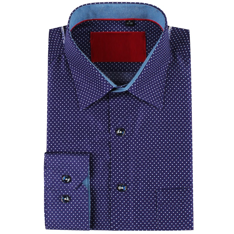 Camisa de hombre morada estampado punto | ABH Collection JÁVEA