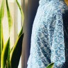 Chemise homme blanche imprimé fleur bleu   ABH Collection JÁVEA