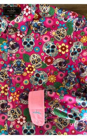 ABH Collection JÁVEA Chemise homme tête de mort mexicain