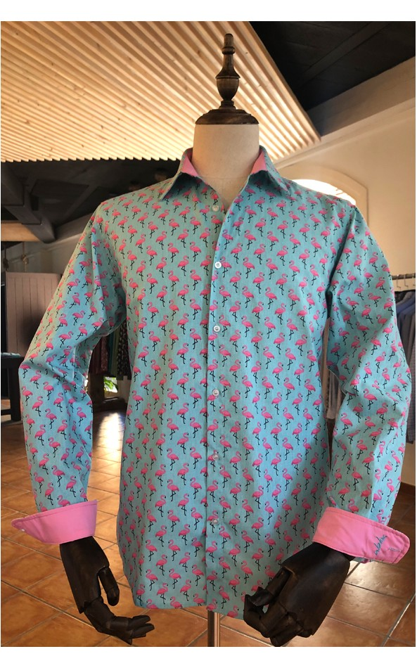 Camisa de hombre estampado flamenco | ABH Collection JÁVEA