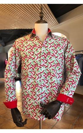 ABH Collection JÁVEA Camisa de hombre pimientos rojos picantes