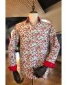 Chemise homme imprimés piments rouges | ABH Collection JÁVEA
