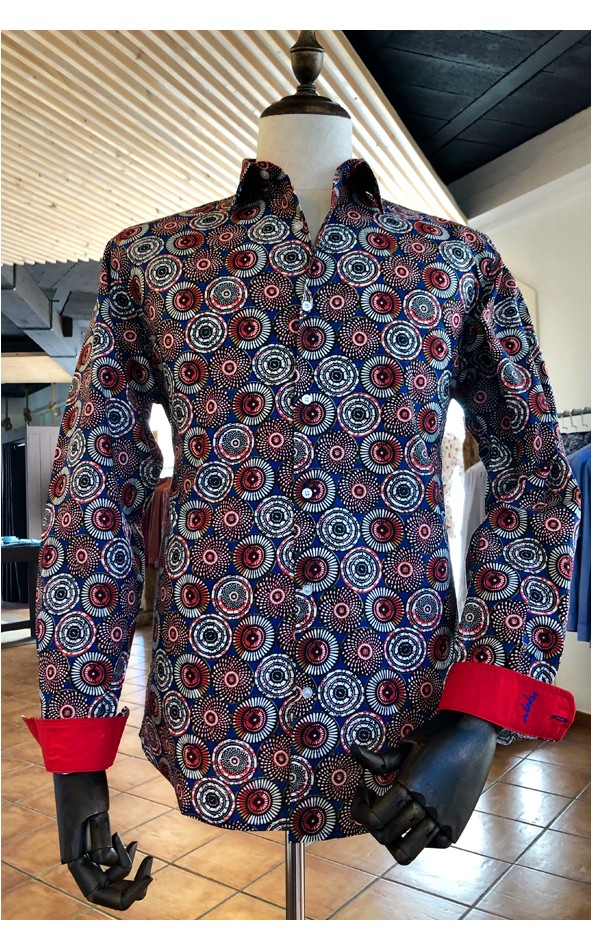 Camisa de hombre estampado étnico | ABH Collection JÁVEA