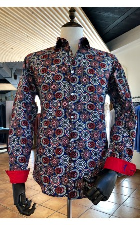 ABH Collection JÁVEA ethnic print Man shirt