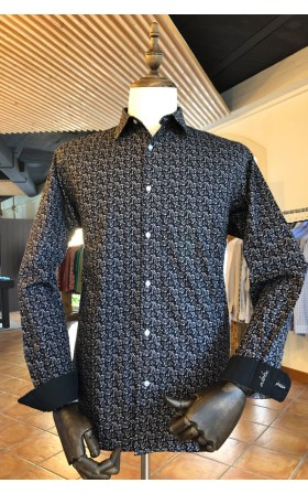ABH Collection JÁVEA Black beige floral man shirt