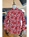 Red flower print men's shirt | ABH Collection JÁVEA