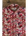 Heart print red men's shirt | ABH Collection JÁVEA
