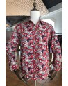 ABH Collection JÁVEA Men's red printed hearts shirt