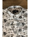 Camisa de hombre estampado flore negra | ABH Collection JÁVEA