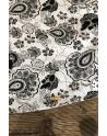 Black flower print men's shirt | ABH Collection JÁVEA