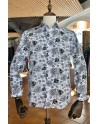 Black flower print men's shirt | ABH Collection JÁVEA