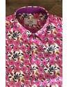 Camisa de hombre estampado flore rosa | ABH Collection JÁVEA