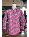 Pink flower print men's shirt | ABH Collection JÁVEA