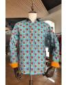 Camisa de hombre estampado cítricos | ABH Collection JÁVEA